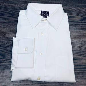 Jos A Bank White Tailored Fit Dress Shirt 16.5-35